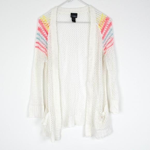 a1c05e397f Daytrip Sweaters - Daytrip MultiColor White Cardigan Medium AB
